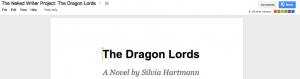 The Naked Writer Project: The Dragon Lords by Silvia Hartmann